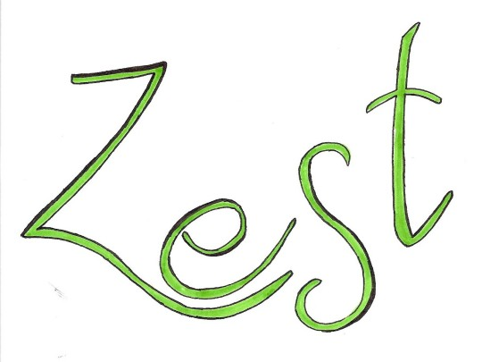 Green Zest Black Outline