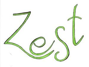 Green Zest Black Outline